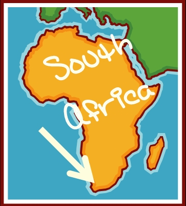 Cartoon Map Of South Africa | Map Of Africa on