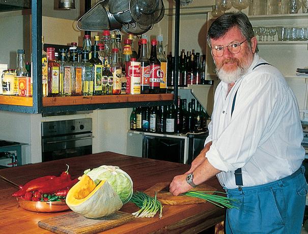 Richard cooking