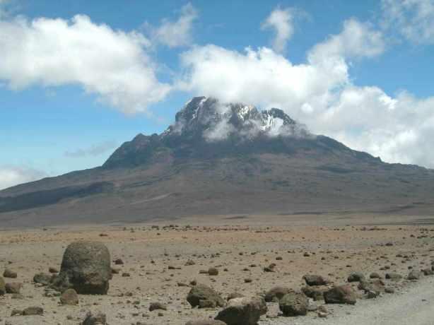 Uhuru peak in the distance
