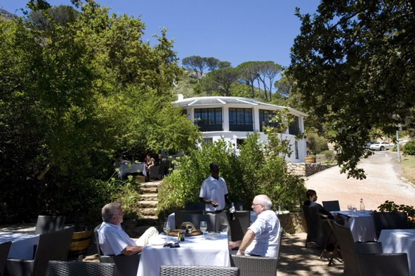 The Glen Camps Bay garden tables