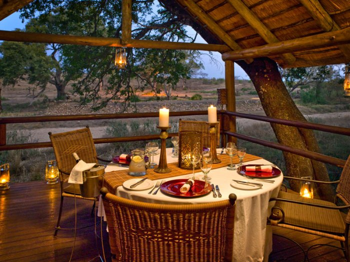 Safari Lodge private meal