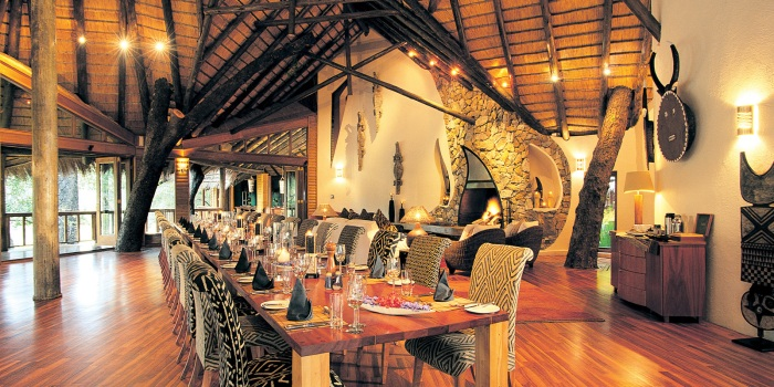 Safari Lodge dining room