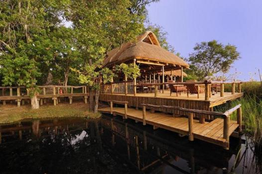 camp deck and jetty