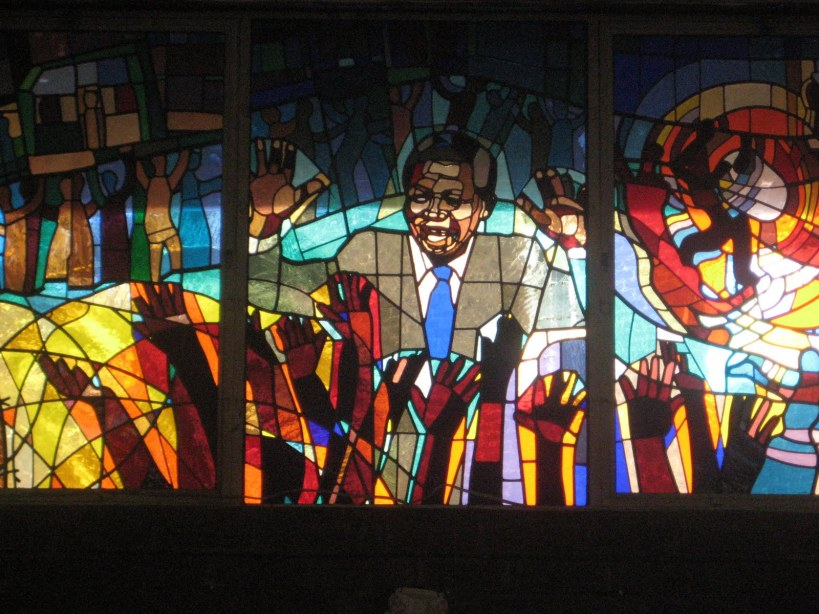 Madiba stained glass Methodist church